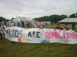 Kids Protest at the Climate Camp