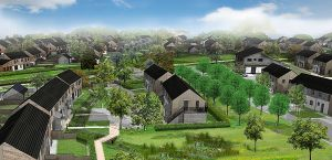 How Mandorla Cohousing will look when it is built in 2016